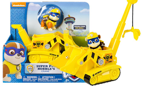 Paw Patrol Super Pup Rubble's Crane, Vehicle and Figure