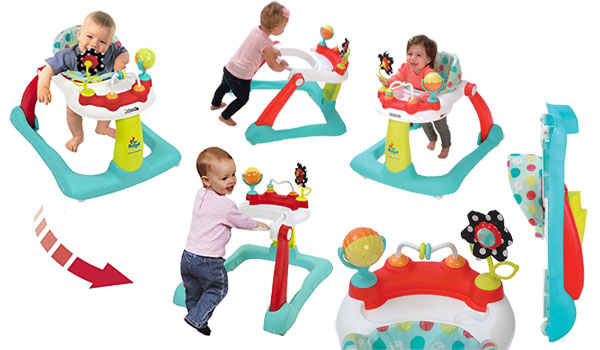 Kolcraft Tiny Steps 2-in-1 Activity Walker -Seated or Walk-Behind Position