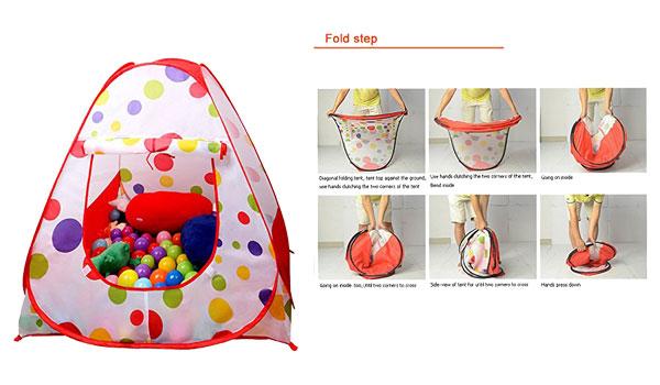 EocuSun Children Kids Play Tent Tents House Pop Up Outdoor Indoor Ball Pit