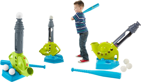 Fisher-Price Grow-to-Pro Triple Hit Baseball Playset