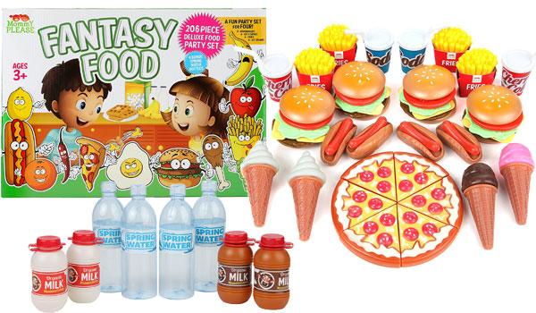 Play Food Set for Kids - Huge 202 Piece Pretend Food Toys