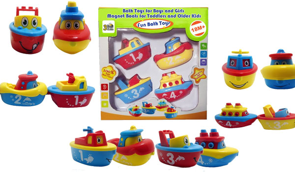 3 Bees & Me Bath Toys for Boys and Girls