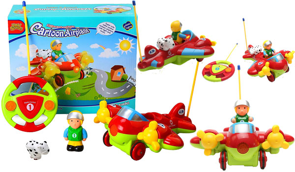 Holy Stone RC Cartoon Airplane Remote Control Plane for Baby Toddlers Kids and Children