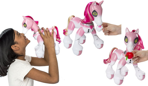 Zoomer Show Pony's bright pink hair