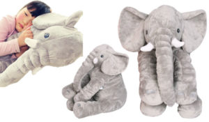 Animals pillow Grey Elephant Stuffed Plush Pillow Pals Cushion Plush Toy Cute Baby Pillow Cushion for Children's