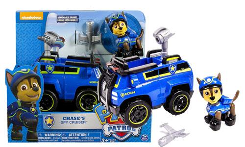 Spy Cruiser, véhicule et figurine de Paw Patrol Chase
