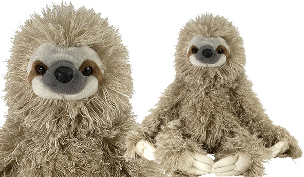 "Wild Republic Cuddlekin Three Toed Sloth 12"" Plush"