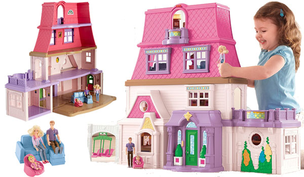 fisher price loving family dollhouse. Black Bedroom Furniture Sets. Home Design Ideas