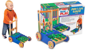 Melissa & Doug Deluxe Chomp and Clack Alligator Wooden Push Toy