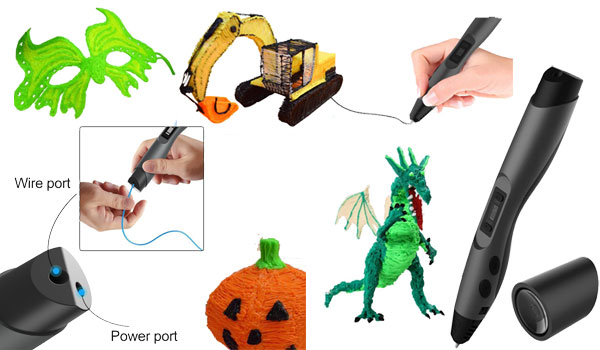 3D Printing Pen, QPAU Intelligent 3D Pen