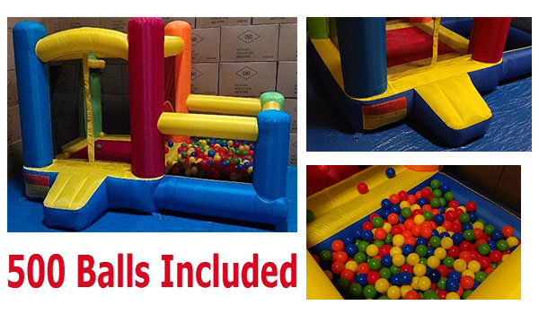 BALLS INCLUDED - My Bouncer Little Castle Bounce House