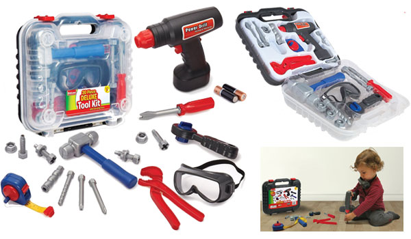 Durable Kids Tool Set, with Electronic Cordless Drill