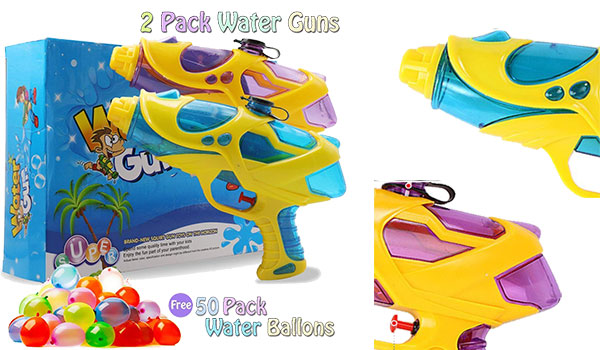 EXSPORT 2 Pack Water Gun Super Blaster Water Squirt Gun for Kids, Great Toy for Soaker Squirt Games Hot Summer Water Games