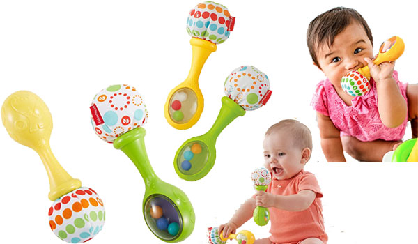 Jouet musical Fisher-Price Hochet et Rock Maracas