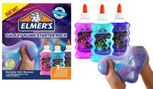 Elmer's Galaxy Slime Starter Kit with Purple, Pink & Blue Glitter Glue