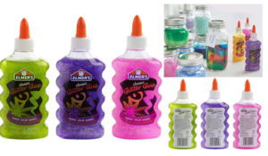 Elmer's Liquid Glitter Glue, Washable, Assorted Colors, 6 Ounces Each, 3 Count - Great For Making Slime