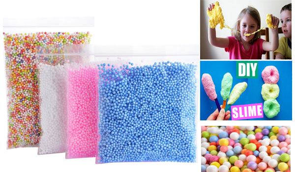 Foam Balls for Slime - Colorful Styrofoam Balls Beads Mini 0.1-0.18 inch (30000 pcs)