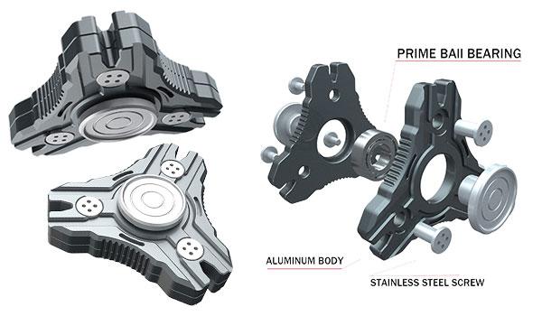 Fidget Spinner Metal Alquar Nova-S Tri Hand Spinner Fidget Toy