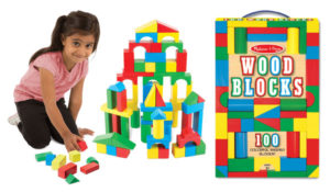 Melissa & Doug Wooden Building Blocks Set