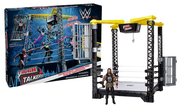 WWE Tough Talkers Championship Takedown Ring Playset Review