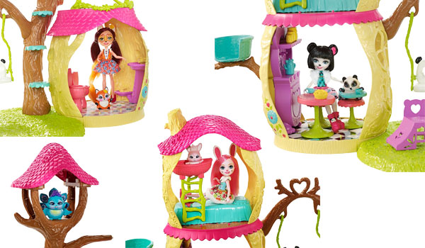 enchantimals, panda playhouse set