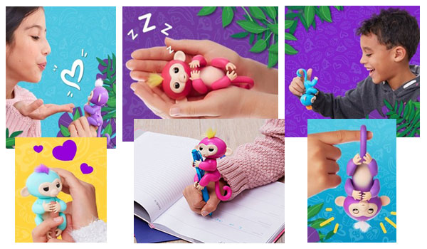 six Fingerlings Interactive Baby Monkeys