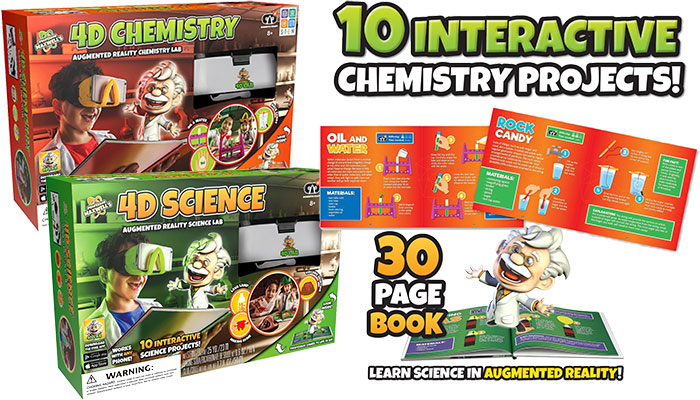 4D Chemistry & 4D Science Augmented Reality Kit