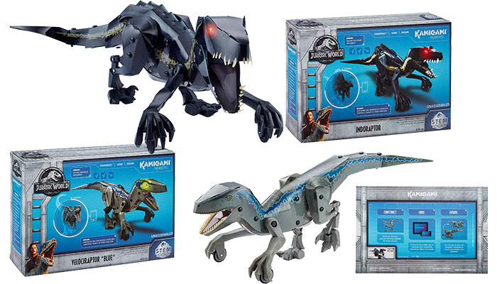 Jurassic World Kamigami Robot (Blue & Indoraptor)