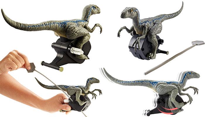 Jurassic World Rip Run Dinos Velociraptor Blue