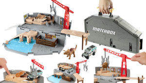 Matchbox Jurassic World Portable Harbor Rescue Playset