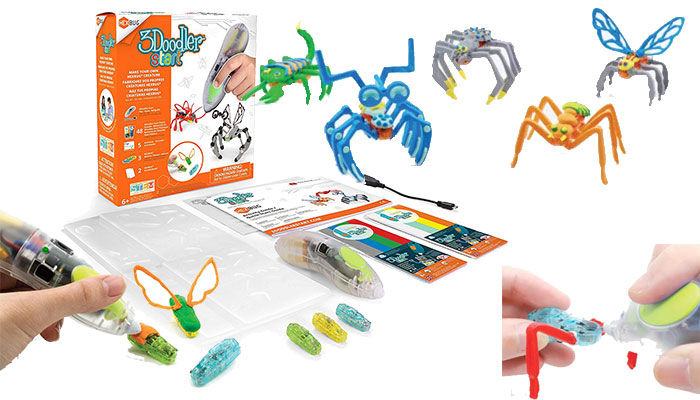 3Doodler Make Your Own HEXBUG Creature 3D Printing Pen Set