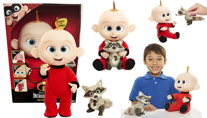 The Incredibles 2 Jack-Jack Attacks Plush-Figure Features Lights & Sounds