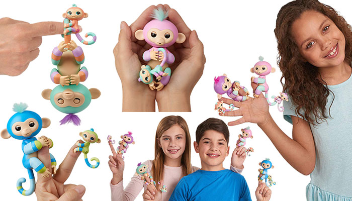 WowWee Fingerlings Baby Monkey & Mini Bffs