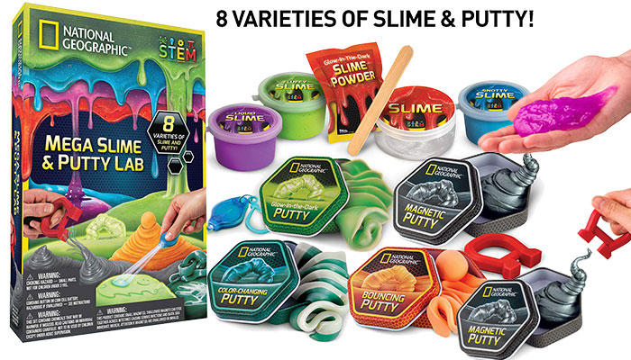 National Geographic Mega Slime & Putty Lab