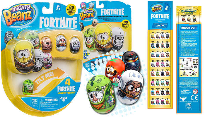 MIGHTY BEANZ Fortnite 4 Pack
