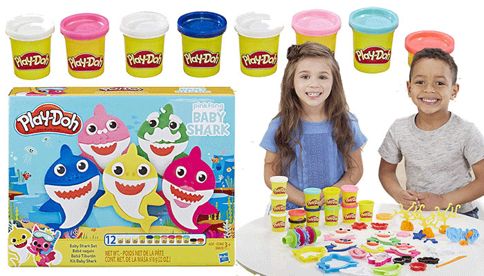 Play Doh Baby Shark Set Review